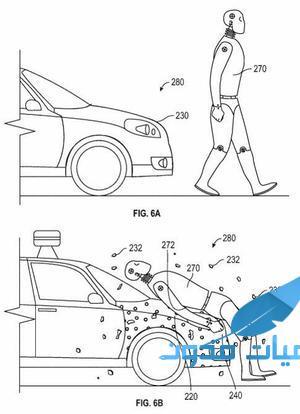 جوجل بغطاء لاصق للمشاة أثناء الحوادث براءة إختراع2 - سيارة جوجل بغطاء لاصق للمشاة أثناء الحوادث براءة إختراع